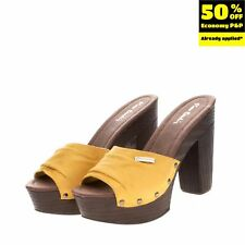 RRP €125 PIERRE CARDIN Mule Clog Sandals Size 40 UK 7 US 10 High Heel Platform