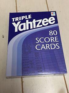 Vintage Triple Yahtzee Score Cards Milton Bradley- 80 Sheets