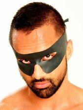 Naturlatex Zorro-Maske schwarz hochwertig Halbmaske