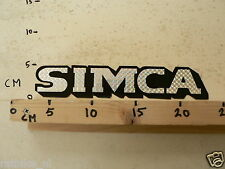 STICKER,DECAL SIMCA CAR AUTO RETRO VINTAGE