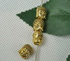 25pcs Tibetan Silver Antique yellow  double-sided buddha head interval beads