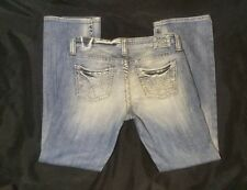 Women's BKE Big Star Maddie Jeans Buckle Size 28R Mid Rise Boot Cut Jeans EUC
