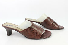 Mules PETER KAISER Cuir Tressé Marron Uk 5,5 / Fr 38,5 EXCELLENT ETAT