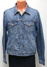 vtg Lucky Brand BLUE JEAN TRUCKER Jacket XL 90s/00s Jetty Wash denim Slim Fit
