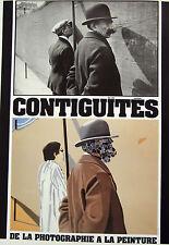 EDUARDO ARROYO esposizione poster, contiguités, Parigi 1984, stampa affiche