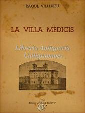 ARCHITETTURA: R. Villedieu, VILLA MEDICIS 1950 Roma Villa Medici Tavole Dedica