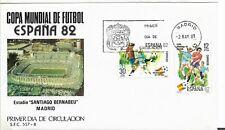 Mundial de Futbol España 82 Madrid Sobre Primer Día año 1982 Santiago Bernabeu