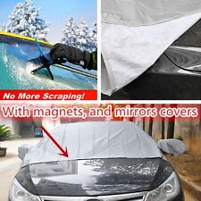 Magnetic Auto Car Windshield Cover Sun Snow Frost Cotton Window Mirror Protector