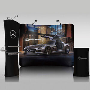 10ft Curved Trade Show Displays Booth Back Wall Pop Up Stand with Custom Print