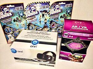 Merge Cube & VR Headset Virtual Reality ONN & Go Sumos Stickers 5 items