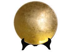 Decorative Lacquerware Plate -  Gold - 45cm
