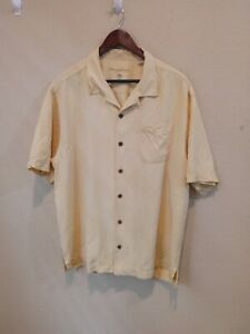 Tommy Bahama 100%Silk Button Front Hawaiian Camp Shirt Men's XL