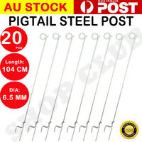 5% off,20 Tread In Pigtail Steel Post Posts Electric Fence Pig Tail Strip Graze