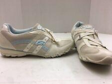 Skechers Size 8.5 Women's White Athletic Top Strap Shoes Jl100417