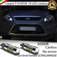 COPPIA LUCI POSIZIONE 10 LED PER FORD KUGA T10 W5W CANBUS NO ERRORE