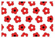 ND1 Red Poppy Flower Wizard of Oz wallpaper Print  Cake Topper Icing A4 Edible