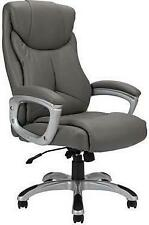 Grey Professional Leather Height Adjustable Chair Home or Office Executive