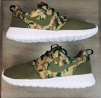 New Nike Roshe One SE Special Edition, Medium Olive/Camo, 844687-200, Men's Sz 8