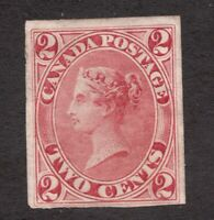 #20 Imperf proof? - Canada - 1859 - 2 Cent  -  MH NG - VF - superfleas