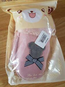 Pink Sheepskin Baby Girls Mitton gloves BNIP Age 1,2,3