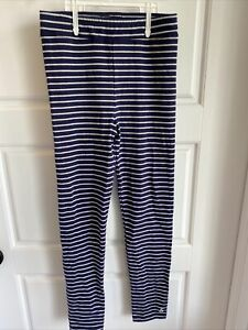 Joules girls leggings striped navy blue Silver Size 7-8