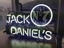 "13""x7""JACK DANIEL'S Neon Sign Light Handmade Real Glass Home Wall Poster Decor"