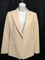 Max Mara Blazer Jacket Pale Yellow Fully Lined Italy Wool Cashmere Angora Size 4