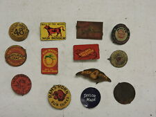 Antique Lot of 13 Tobacco Tin Tags, (VAX)