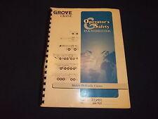 GROVE RT640E RT600E SERIES CRANE OPERATOR OPERATION & SAFETY BOOK MANUAL