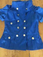 Blue Short Sleeve Miss Posh Jacket With Hood Size 10