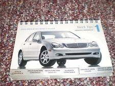 2003 03 MERCEDES C CLASS OWNERS MANUAL QUICK TIPS 1 GUIDE CONTROLS DISPLAY SEATS