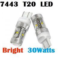 7443 T20 Super BRIGHT 30W CREE LED Tail Light Turn Signal Bulbs Aurion Yaris