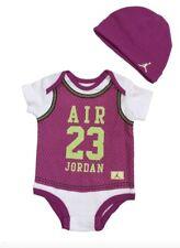 Nike Air Jordan 2 PC Creeper Bodysuit Romper Hat Set Size 9-12 months