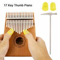 Kalimba Daumen 17 Tasten  Finger Klavier Schlüssel Set Daumenklavier Musiknote