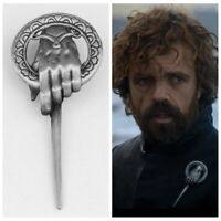 US! Game of Thrones Hand of The King Silver Plated Pin Brooch With Card Jewelry
