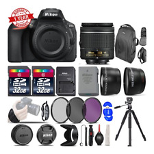 Nikon D5600 Digital SLR Camera +3 Lens 18-55mm VR + 64GB -Great Saving Full Kit