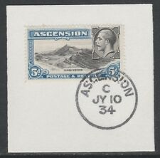 Ascension 5574 - 1934 KG5 5d  on piece with MADAME JOSEPH FORGED POSTMARK