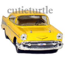 Kinsmart 1957 Chevrolet Bel Air Hard Top 1:40 Diecast Toy Car KT5313D Yellow
