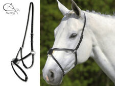 Ekkia Mexican Grackle Noseband Figure of Eight Leather Black Brown FREE DELIVERY