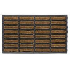 JVL Nimbus Heavy Duty Rubber Natural Coir Tuffscrape Door Mat, 45 x 75 cm