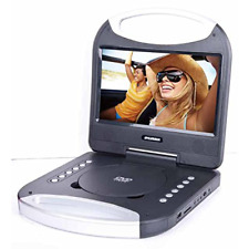 Sylvania 10-Inch Portable DVD Player with Integrated Handle Black SDVD1052-BLACK