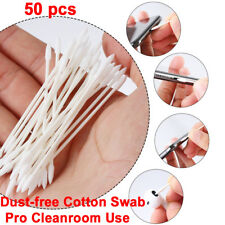 50x Disposable Cleaning Cotton Swab For AirPods Earphone Phone Charge Port