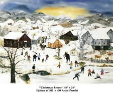 """1989 """"Christmas Recess"""" Limited Edition print by Will Moses, PRISTINE MINT!"""
