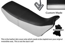 Black & white custom fits honda nx 650 dominator 89-91 double housse siège en cuir