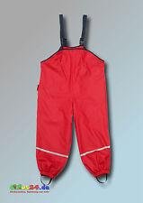 Playshoes Fleece-trägerhose rot Größe 128