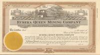 Eureka Queen Mining Company > Nevada stock certificate