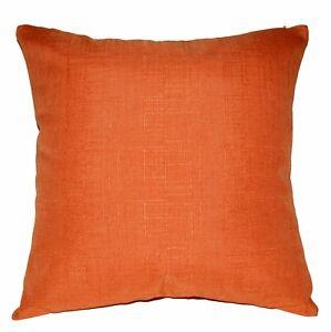 Qh06a Mandarin Orange Thick Cotton Blend Cushion Cover/Pillow Case Custom Size