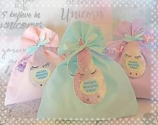 Magical Unicorn Birthday Party Filled Fabric Loot Favour Thank You Bags Girls