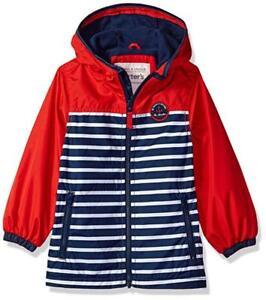 Carter's Boys Blue & Red Fleece Lined Jacket Size 4 5/6 7