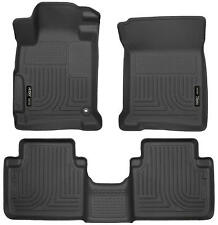 Husky Liners 2013-2017 Honda Accord Front & Rear Floor Mats Black Weatherbeater